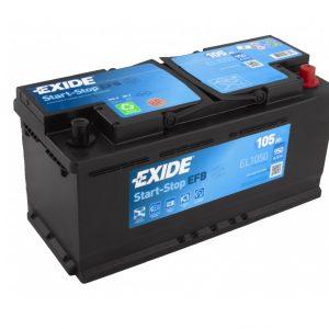 Exide EFB start-stop 105Ah 950A 12V Evro