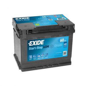 Exide AGM start-stop 60Ah 680A 12V Evro