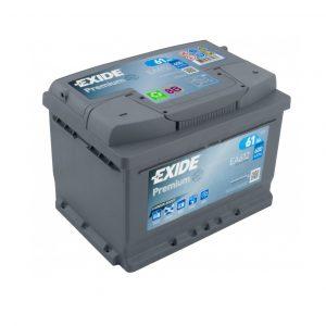 Exide Premium 61-Ah 600-A 12-V Evro