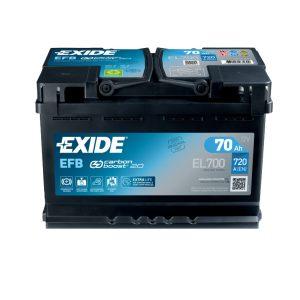Exide EFB start-stop 70Ah 720A 12V Evro